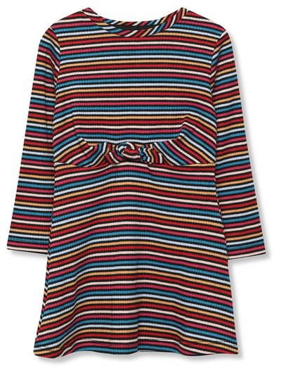Stripe knot dress (9mths-5yrs)