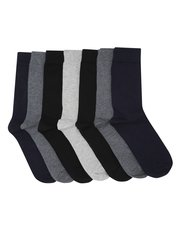 Plain socks seven pair pack
