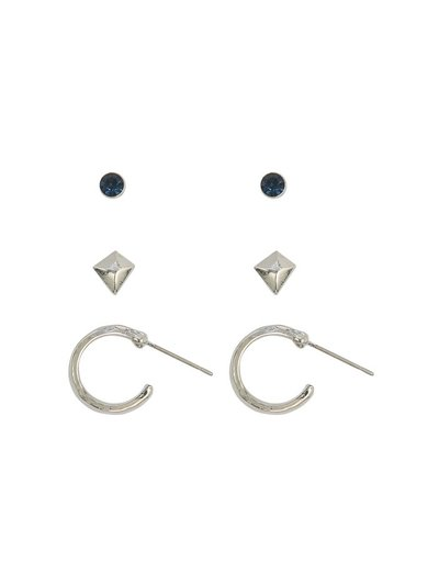 Stud earrings three pack