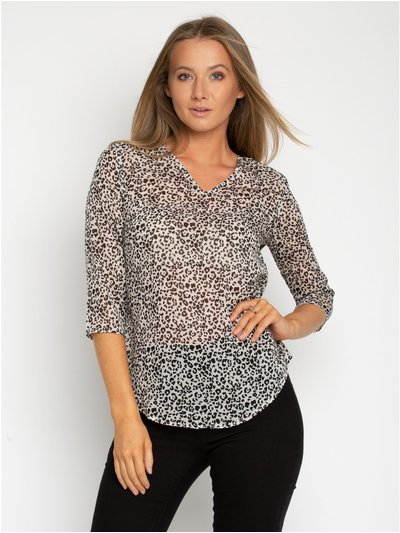 StylistPick animal print blouse