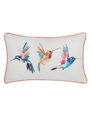 Hummingbird print cushion