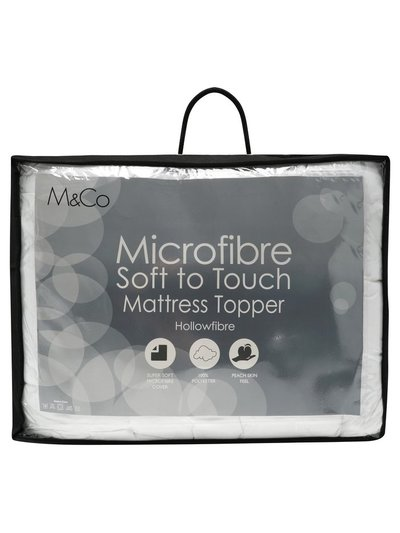 Microfibre mattress topper
