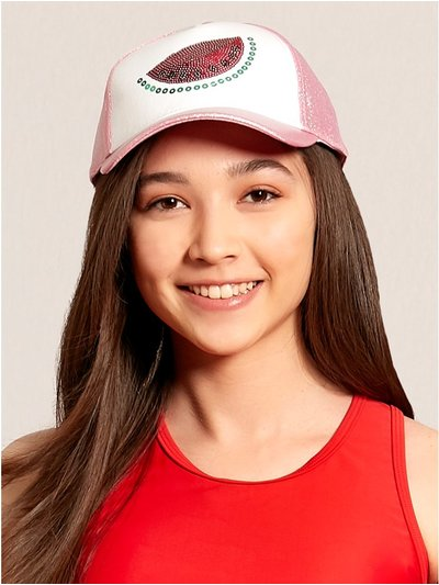Teen watermelon sequin cap