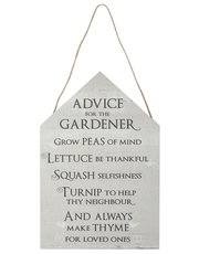 Advice for the Gardener wall sign