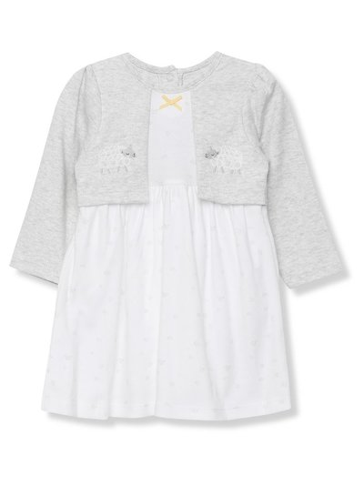 Sheep mock cardigan dress