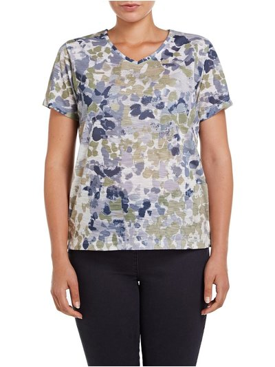 VIZ-A-VIZ abstract printed top