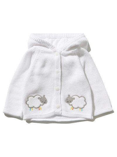 Hooded sheep cardigan (Newborn - 18 mths)