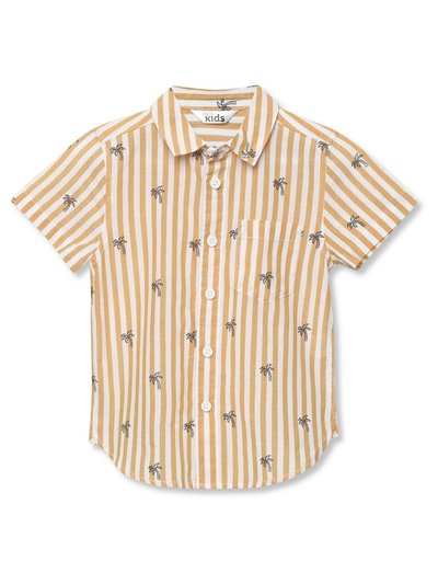 Palm tree striped shirt (3-12yrs)