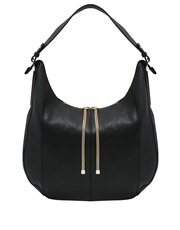 Metal trim hobo bag