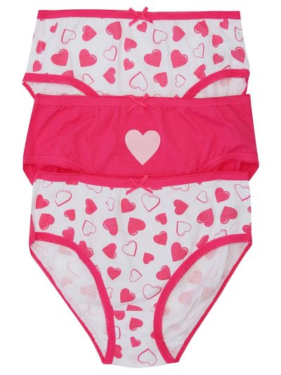 Heart briefs three pack (2-10yrs)