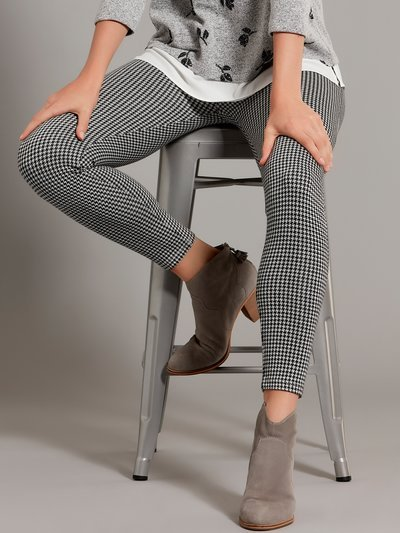Dogtooth check leggings