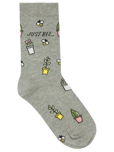 Teen floral bee socks