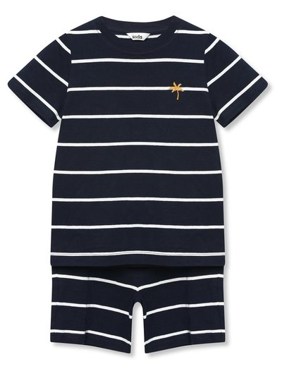 Striped t-shirt and short set (9mths-5yrs)