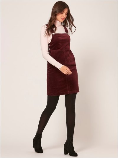 Cord pinafore dress