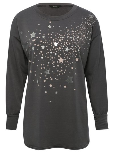 Star foil sweat top