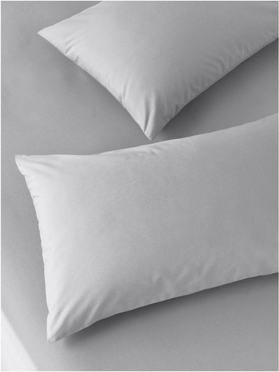 Cotton rich grey pillowcases two pack