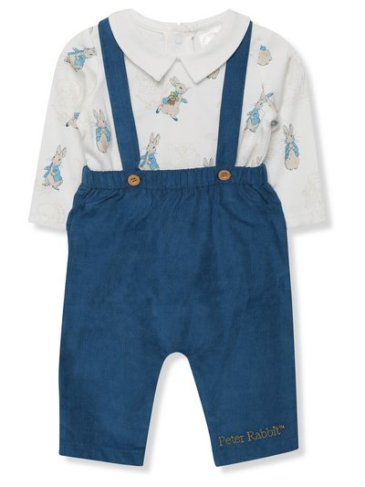Peter Rabbit dungarees and bodysuit (Newborn - 18 mths)