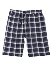 Checked cotton lounge shorts
