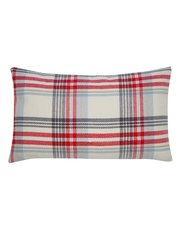 Tartan rectangular cushion