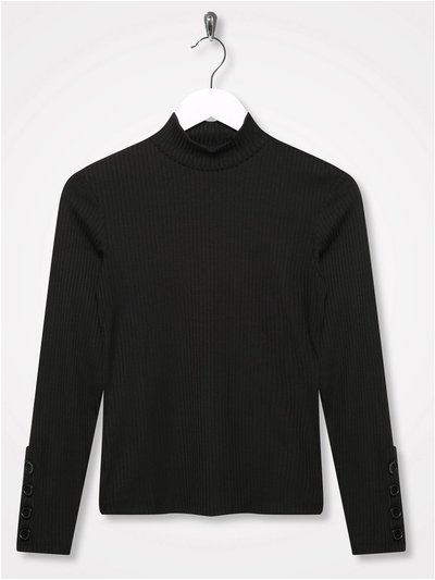 Sonder Studio ribbed high neck top