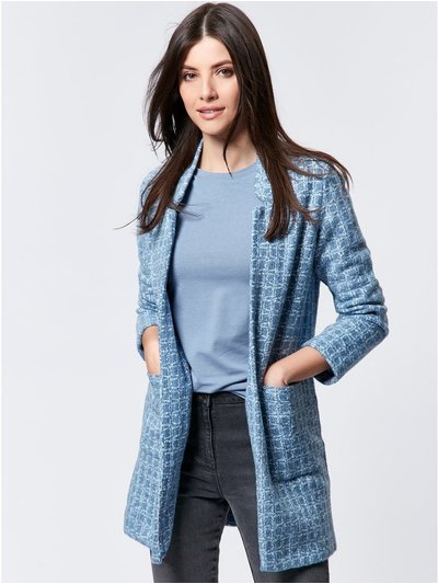 Lightweight check coat