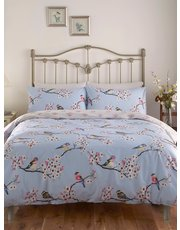Bird and Blossom print duvet set
