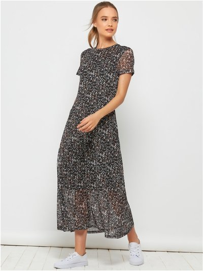 Sonder Studio mesh midi dress
