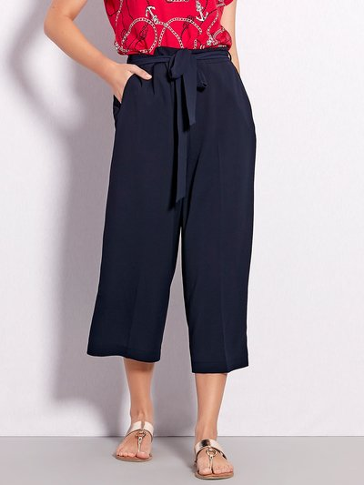Tie front culottes