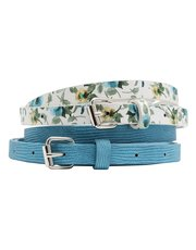 Floral belt two pack