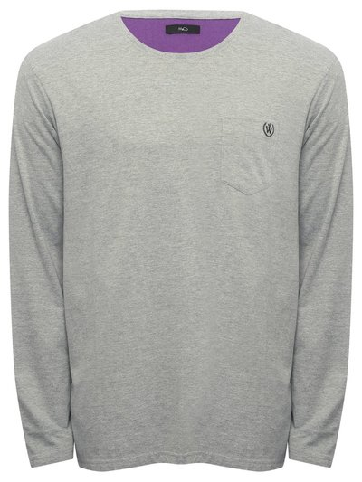 Long sleeve lounge top with chest pocket