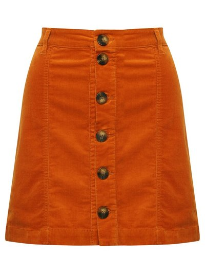 JDY cord button front skirt