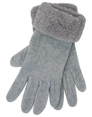 Faux Fur and fleece gloves