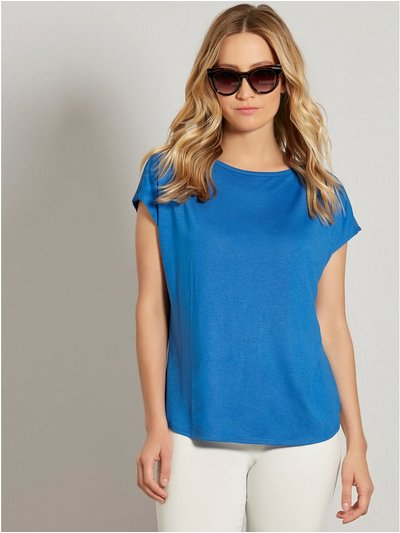 Slash neck t-shirt