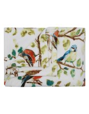 Bird print fleece throw