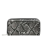 Snake print wallet with removable coin purse