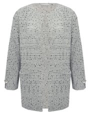 LV CLothing pearl embellished cardigan