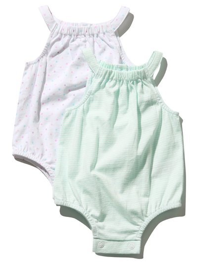 Strappy bodysuits two pack (Newborn - 18 mths)