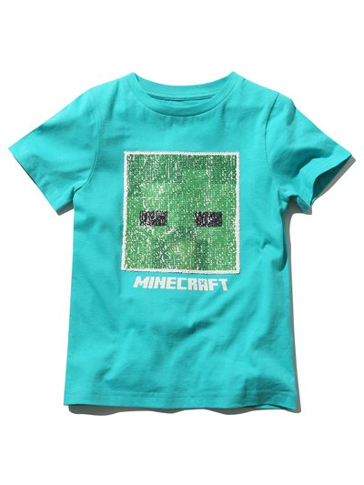 Minecraft two way sequin t-shirt (4 - 13 yrs)