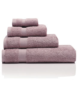 Lilac Combed Cotton Towels