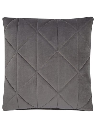 Geo quilted velvet cushion