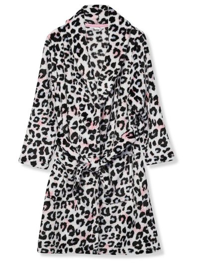 Leopard print fleece dressing gown (5-12yrs)