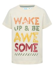 Wake up and be awesome slogan t-shirt