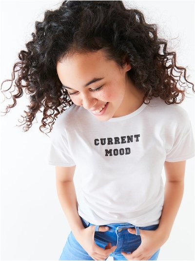 Teen current mood slogan t-shirt