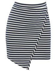 Stripe wrap over skirt