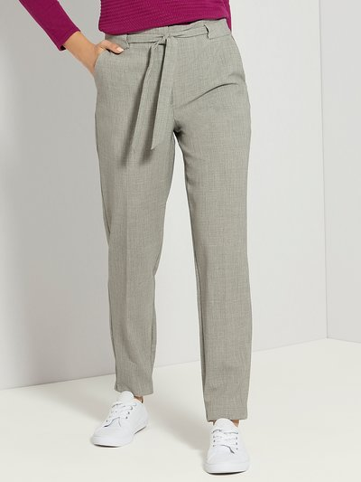 Tie waist tapered trousers