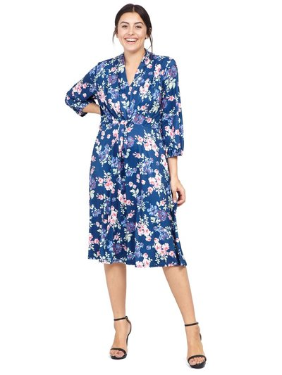 Izabel Curve floral tie front tea dress