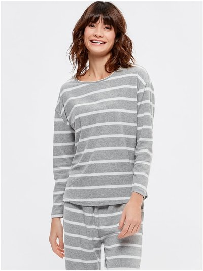 Stripe towelling lounge top