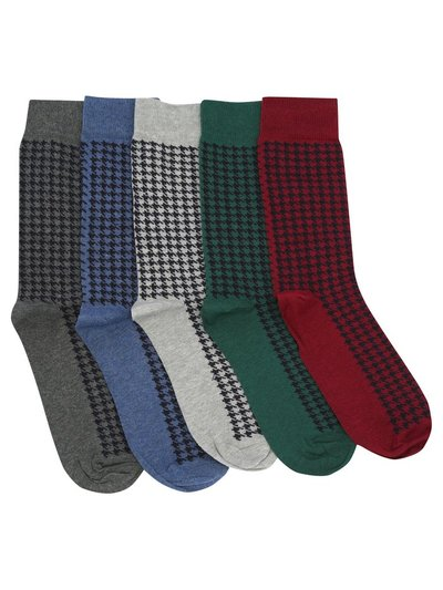 Dogtooth socks pack of five pairs
