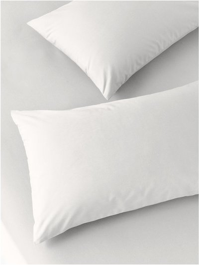 Pure cotton cream pillowcases two pack