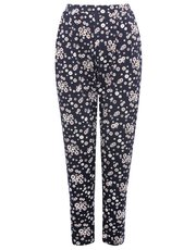 Petite daisy print soft trousers